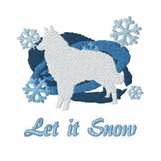 Snowflake Belgian Tervuren Embroidered Sweatshirt
