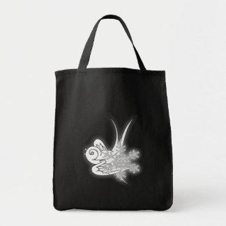 Snowflake & Birdie - Black & White Canvas Bags