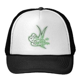 Snowflake & Birdie Christmas Design - Green Trucker Hat