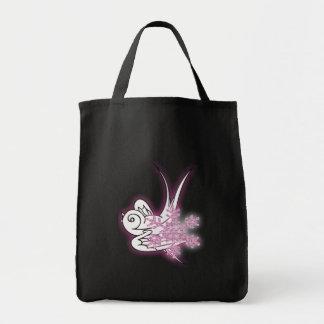 Snowflake & Birdie Christmas Design - Pink Tote Bag