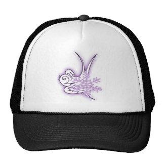 Snowflake & Birdie Christmas Design - Purple Trucker Hat