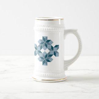 Snowflake Blue Beer Stein