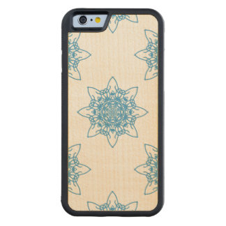 Snowflake Blue Carved Maple iPhone 6 Bumper Case