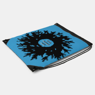 SnowFlake - Blue Drawstring Backpack