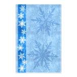 Snowflake Blue Holiday Stationary Custom Stationery