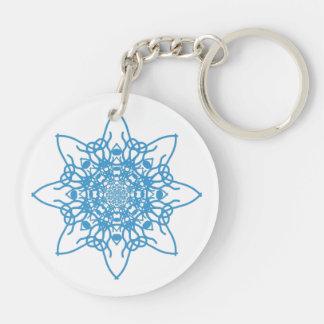 Snowflake Blue Keychain