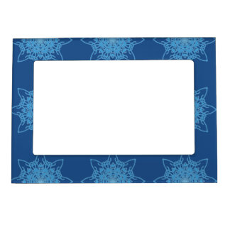 Snowflake Blue Magnetic Photo Frame