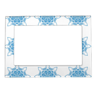 Snowflake Blue Magnetic Picture Frame