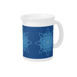 Snowflake Blue Drink Pitcher