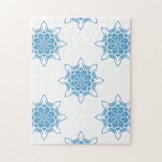 Snowflake Blue Jigsaw Puzzles