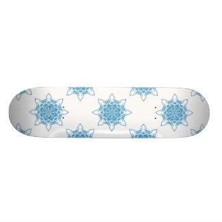 Snowflake Blue Skateboard