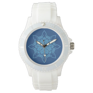 Snowflake Blue Watches