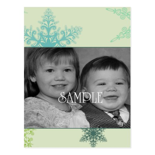 snowflake blues postcard