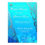 Snowflake & Bokeh Winter Bridal Shower Invite