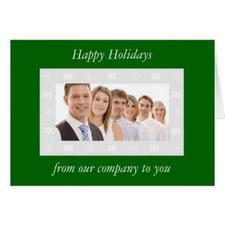 Snowflake Border Custom Holiday Card (green)