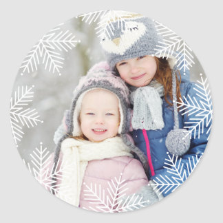 Snowflake Border | | Holiday Photo Sticker