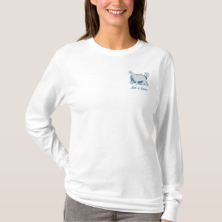 Snowflake Borzoi Embroidered Long Sleeve Shirt