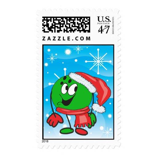 snowflake bowling ball santa postage
