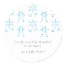 Snowflake | Boy Baby Shower Favor Sticker