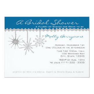 Snowflake Bridal Shower Announcement