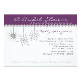 Snowflake Bridal Shower Personalized Invitations