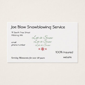 Snowflake Business Card