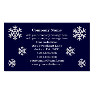 Snowflake Business Cards