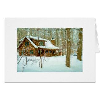 Snowflake Cabin Card