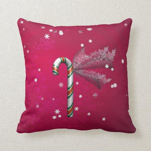 Snowflake Candy Cane Pillows