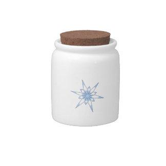 SNOWFLAKE CANDY JARS