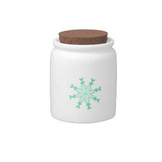 SNOWFLAKE CANDY DISH