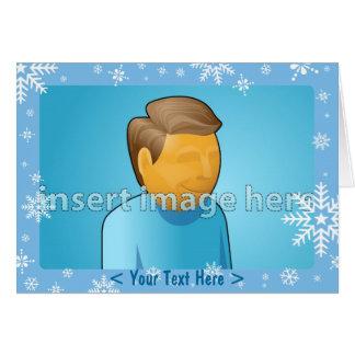 Snowflake Card Template