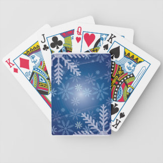 Snowflake cards!! bicycle playing cards