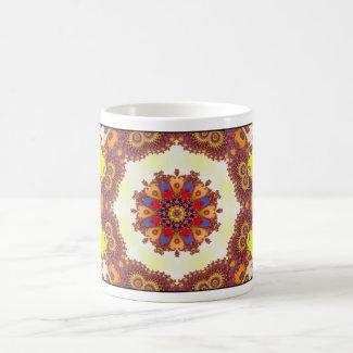 'Snowflake Center' mug
