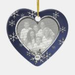 Snowflake Charm Frame Christmas Ornaments
