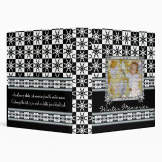 Snowflake Checkerboard Winter Memories Book Vinyl Binders