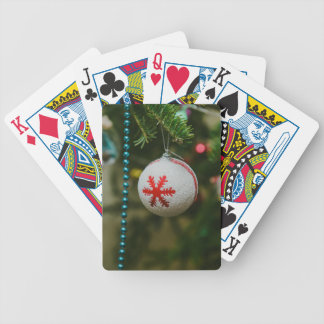 Snowflake Christmas bauble Bicycle Playing Cards