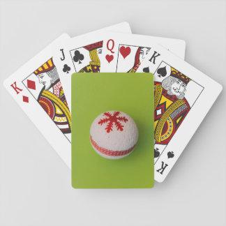 Snowflake Christmas bauble Poker Deck