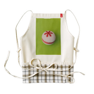 Snowflake Christmas bauble Zazzle HEART Apron