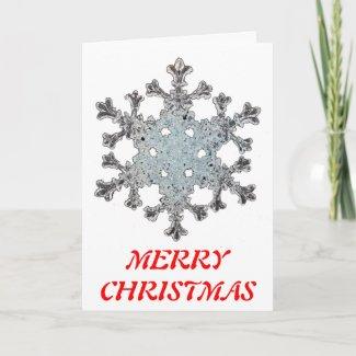 snowflake christmas card card