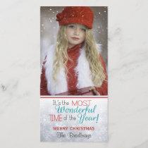 Snowflake Christmas Custom Photo Holiday Card