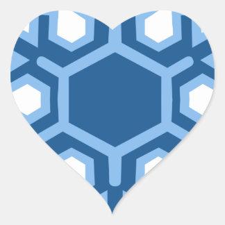 Snowflake Christmas Design Heart Sticker