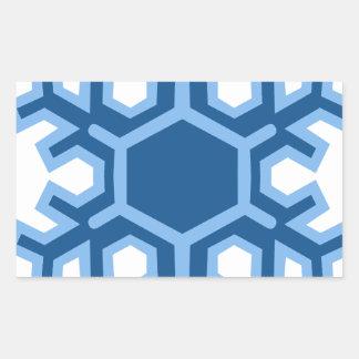 Snowflake Christmas Design Rectangular Sticker
