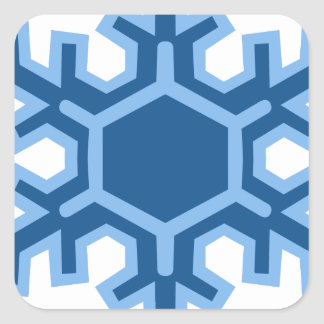 Snowflake Christmas Design Square Sticker