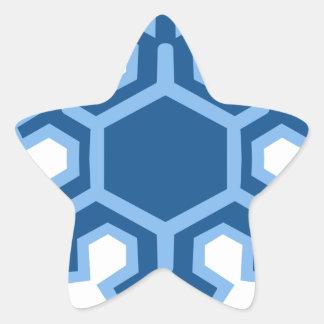 Snowflake Christmas Design Star Sticker