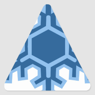 Snowflake Christmas Design Triangle Sticker