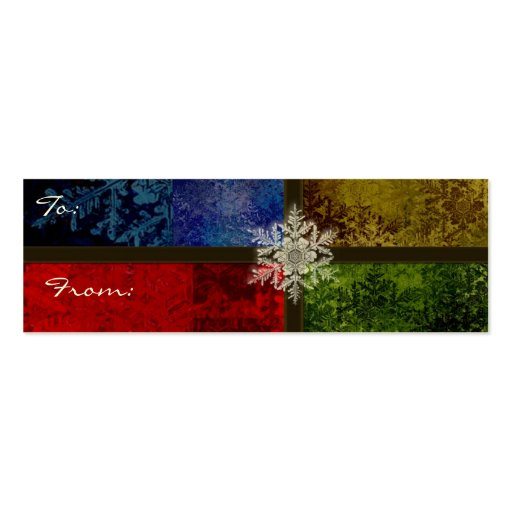Snowflake Christmas t cards Business Card