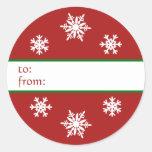 Snowflake Christmas Gift Tag Sticker