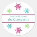 Snowflake Christmas Gift Tag Stickers