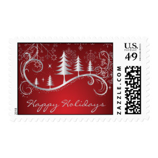 Snowflake Christmas Happy Holiday Postage Stamps